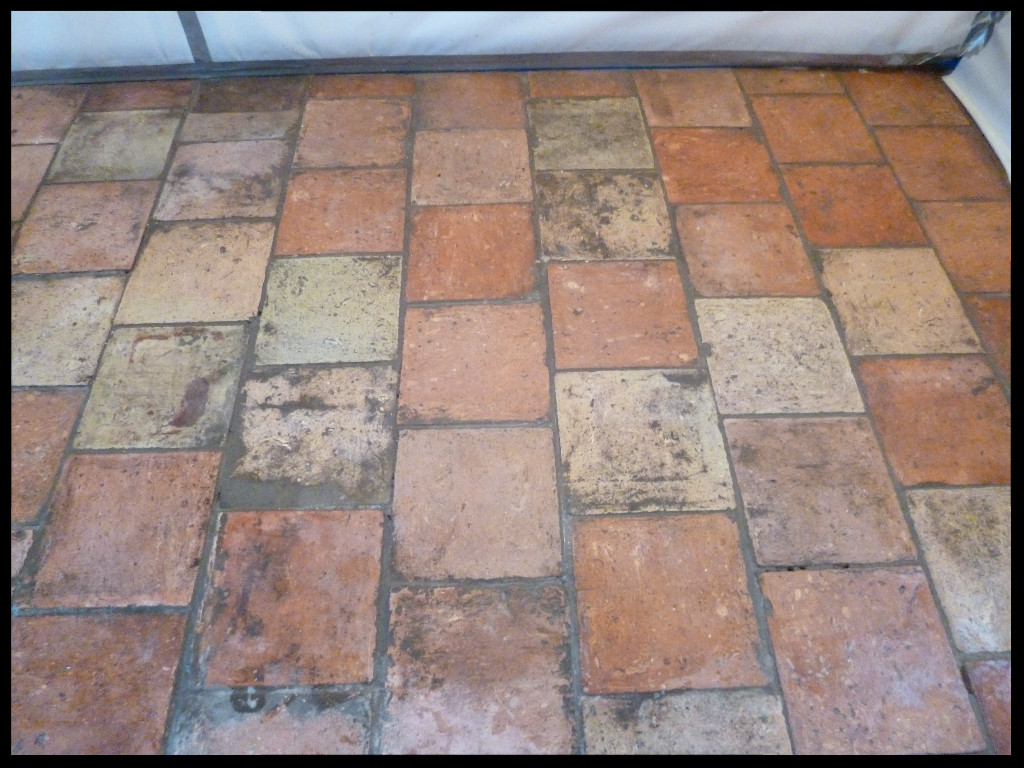 Pamment Dining Room Floor Tiles Before Cleaning Wymondham
