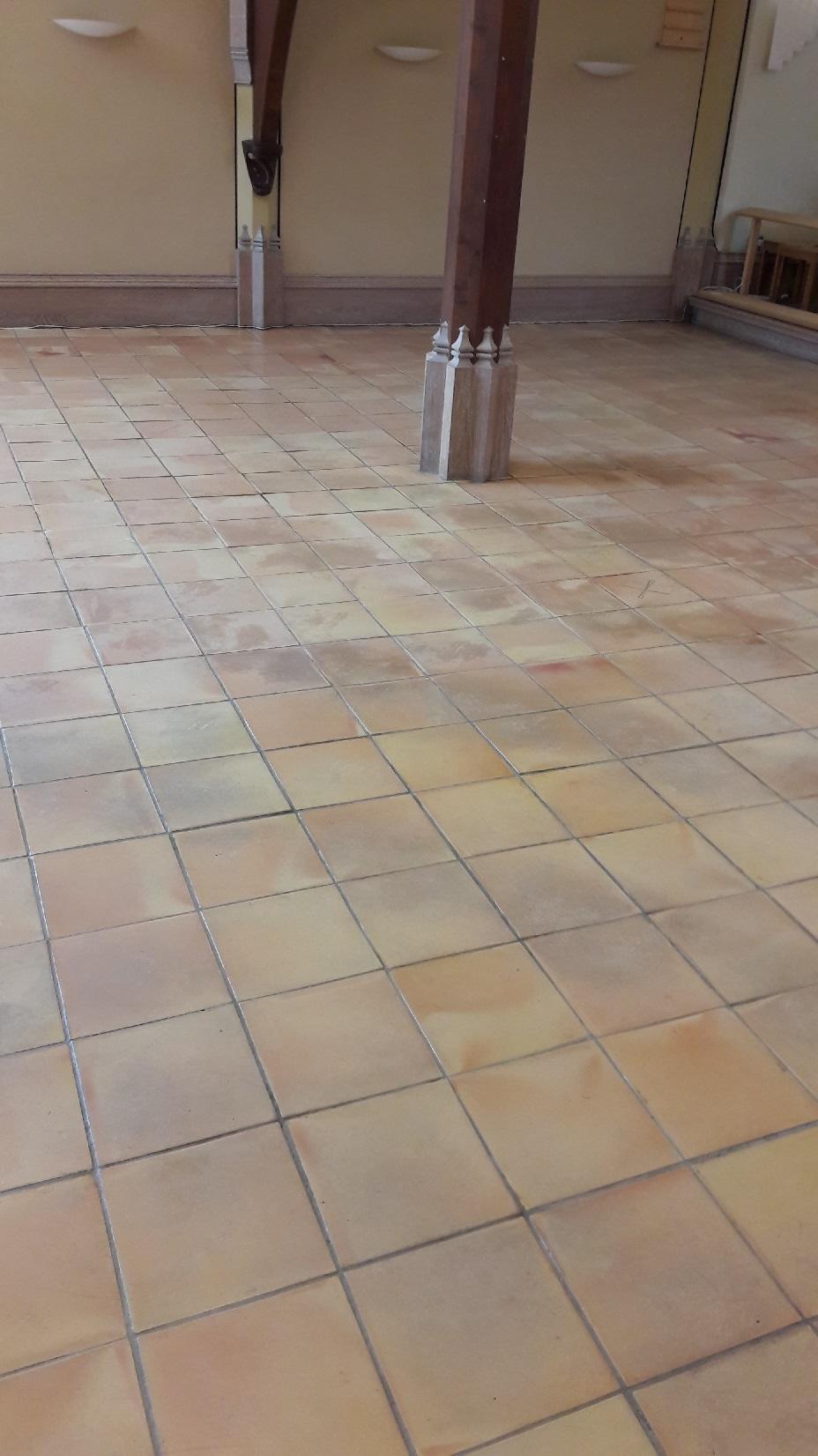 Terracotta Floor Tiles Before Renovation St Andrews Church Eaton Norfolk