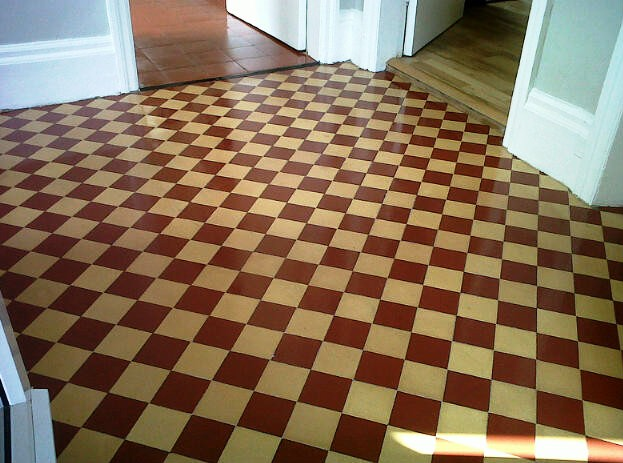 Victorian Hallway Floor Tiles After Cleaning Norwich