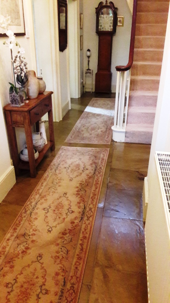 Yorkstone Hallway Restoration Carbrooke Finished Floor