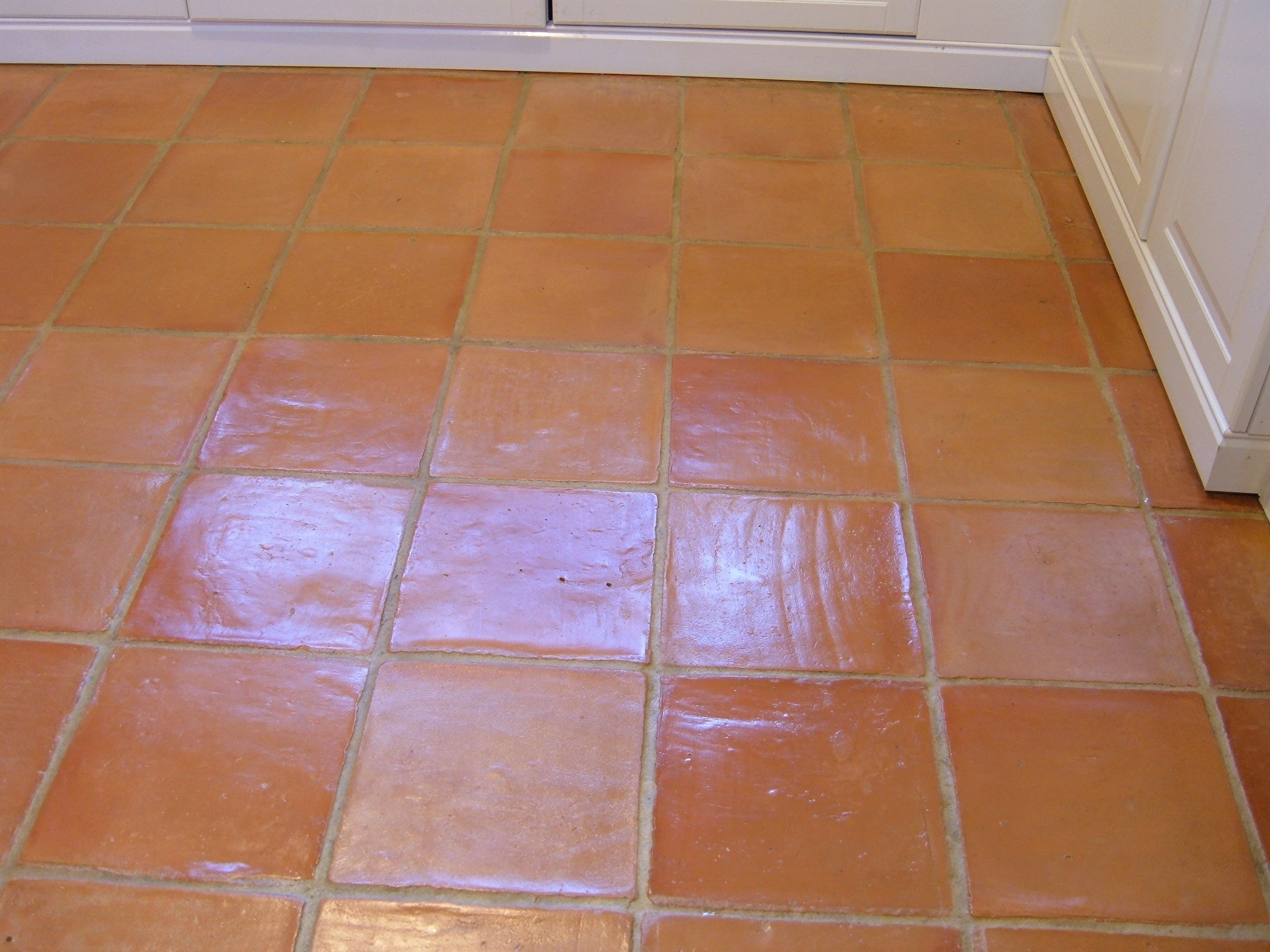 Terracotta Tiled Kitchen Floor After Cleaning Hales