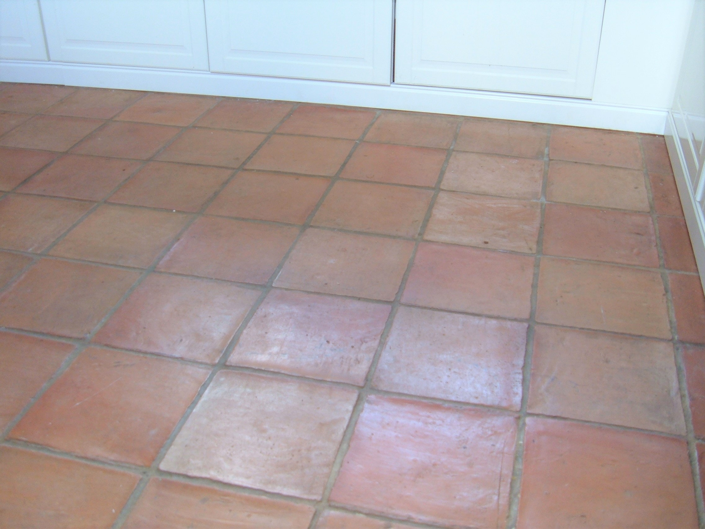 Terracotta Tiled Kitchen Floor Before Cleaning Hales