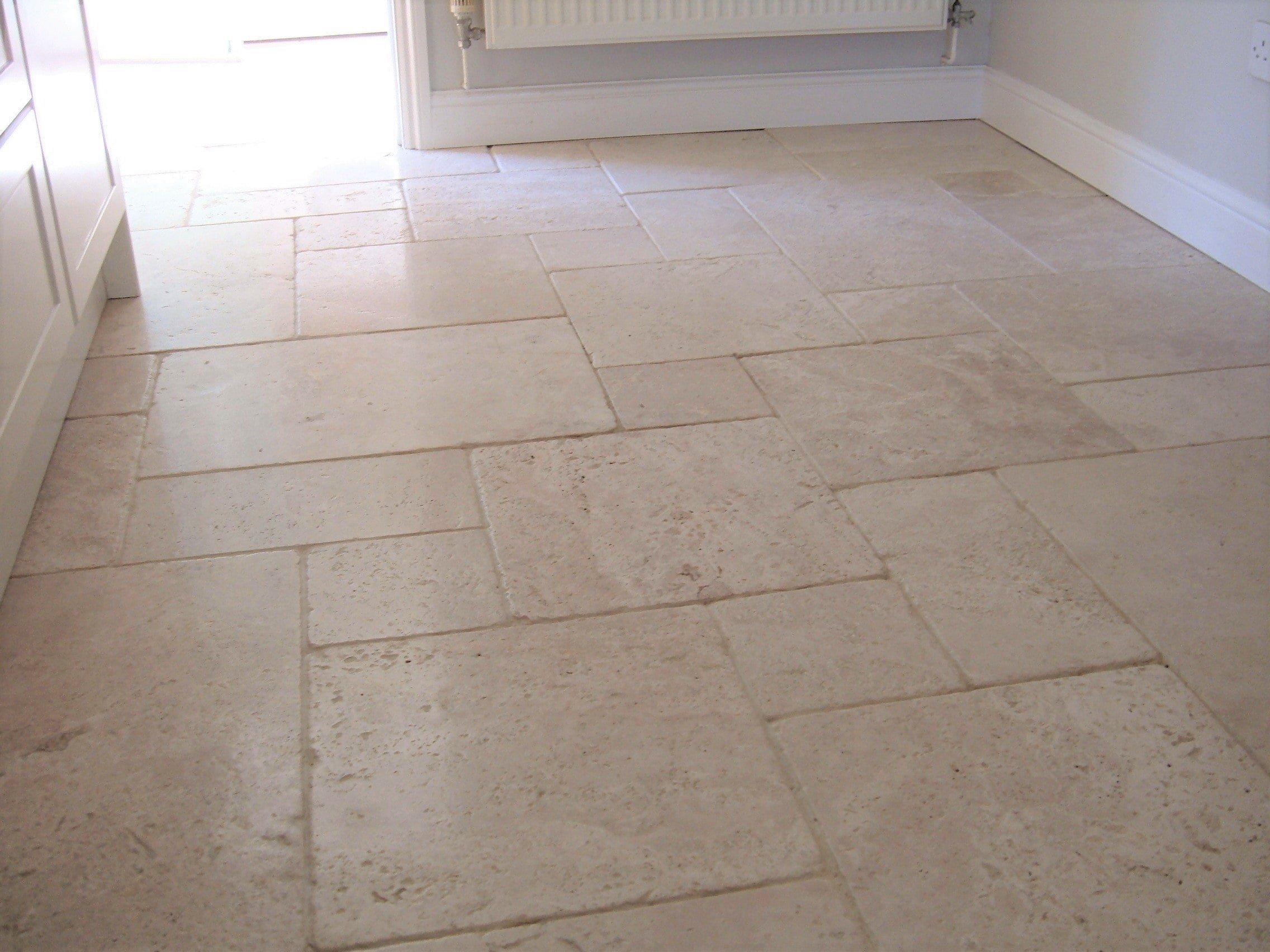 Travertine Floor in Attleborough Cleaned and Sealed