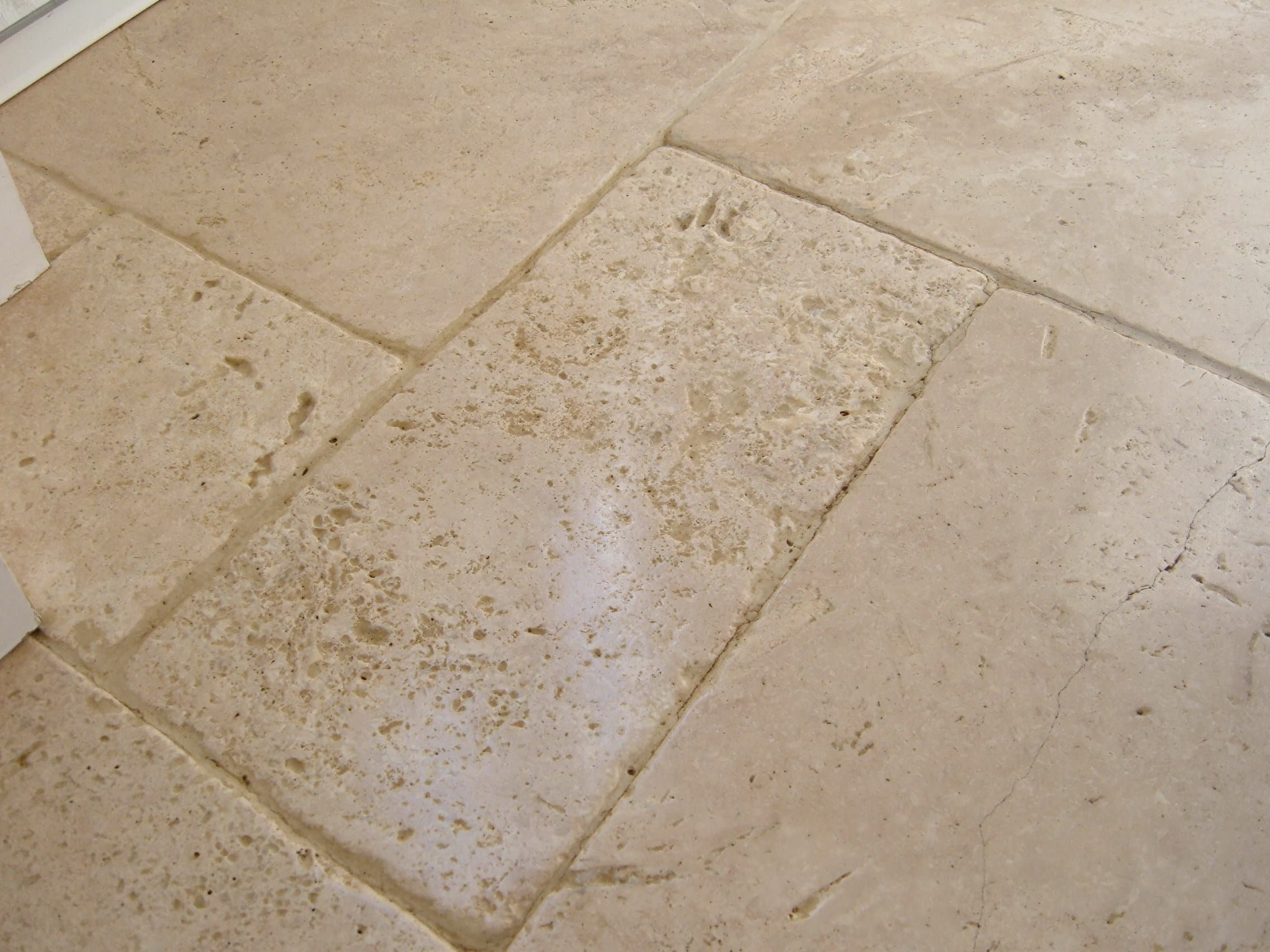 Travertine Floor in Attleborough Deep Cleaned