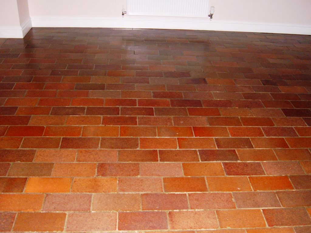 Quarry Tiled Floor Geldeston After Cleaning