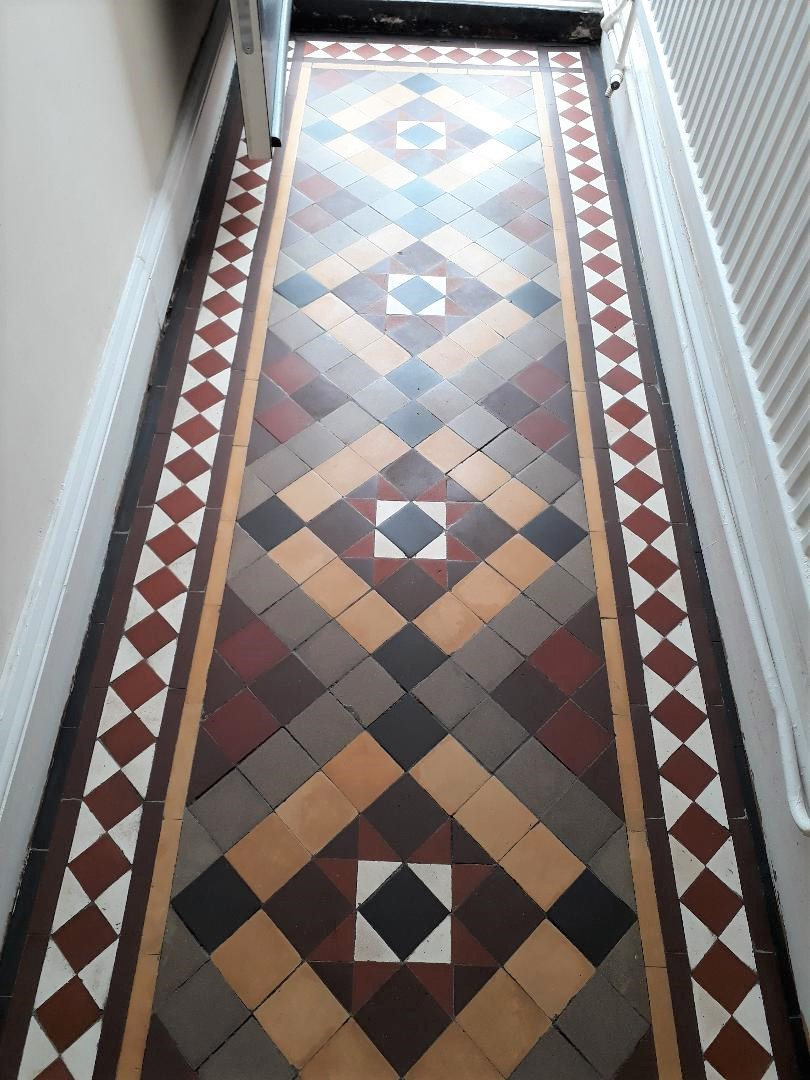 Victorian Tiled Hallway After Cleaning Kings Lynn