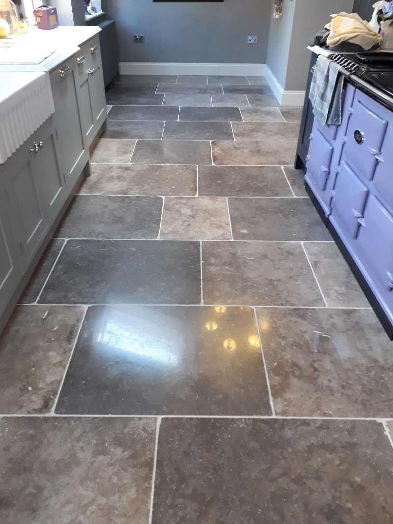 Limestone Tiled Floor After Renovation in Hindolveston