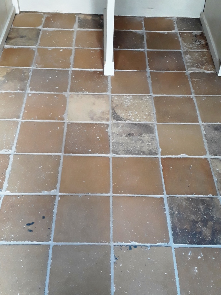 Yellow Clay Floor Tiles After Cleaning Tacolneston