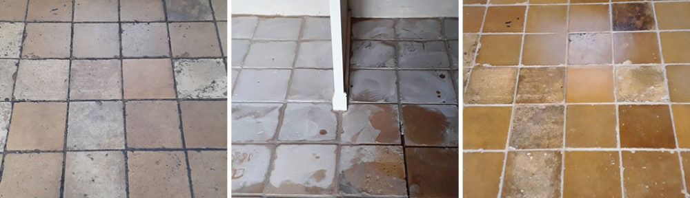 Renovating a Yellow Clay Tiled Floor in Tacolneston Village