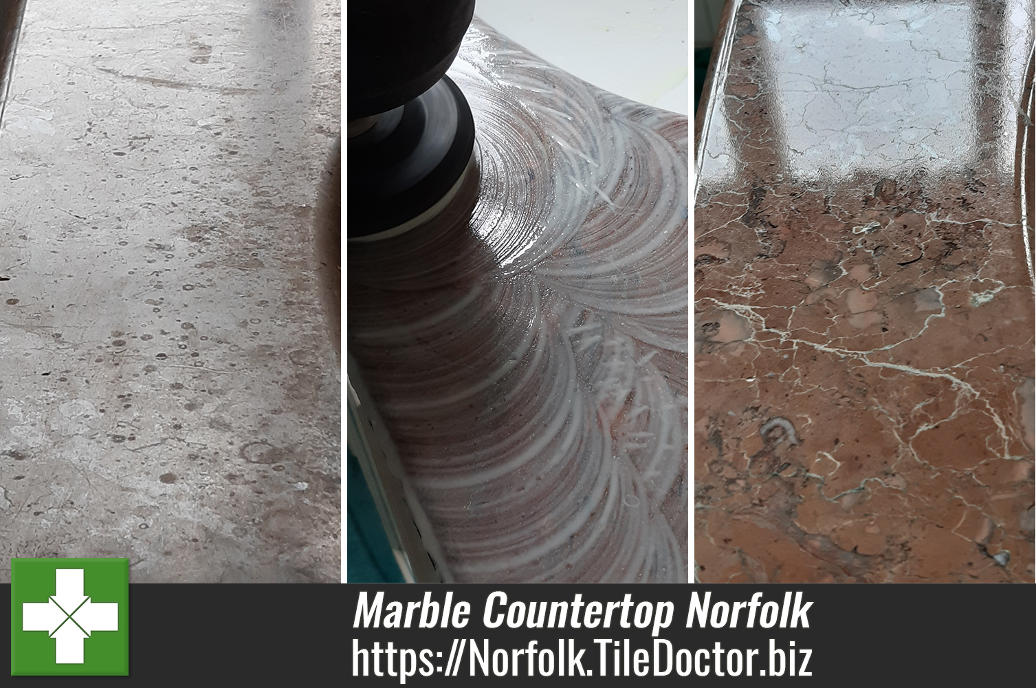 Renovating a Marble Handbasin Countertop in Swardeston
