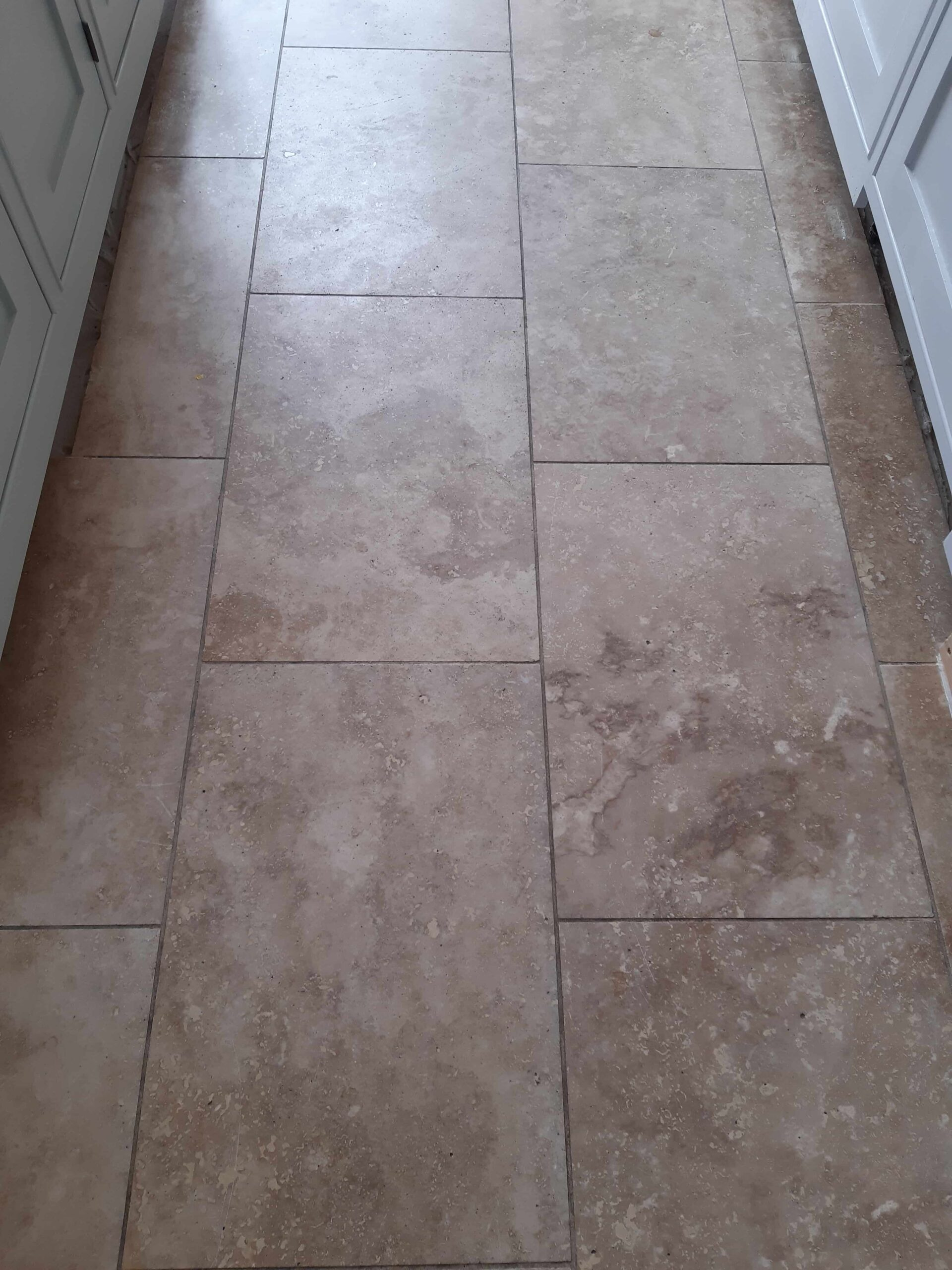 Travertine Kitchen Floor Before Face Lift Burgh Castle