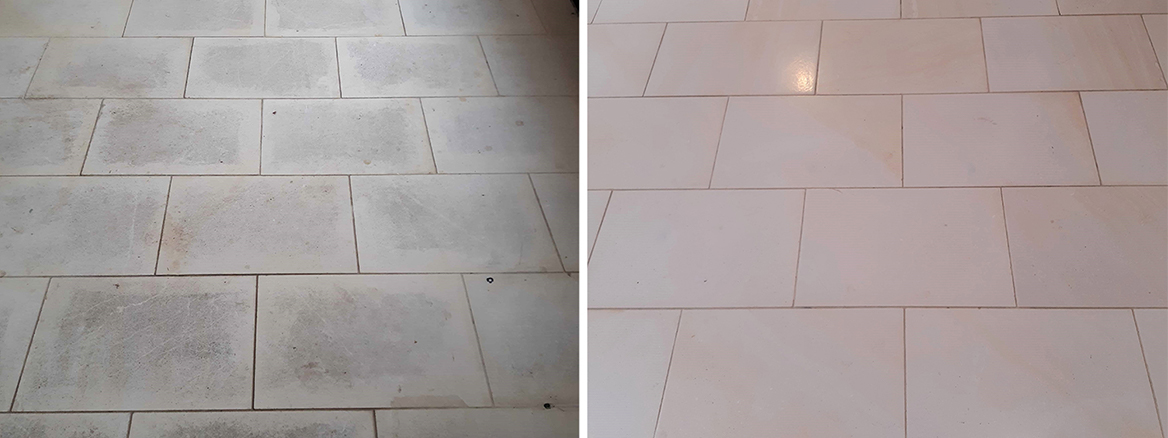 Issues with Pale Limestone Kitchen Floor Resolved in Brockdish