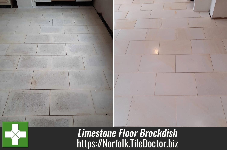 Pale Limestone Floor Tile Installation Issues Resolved in Brockdish